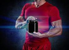 Sport, het bodybuilding, sterkte en mensenconcept royalty-vrije stock foto