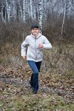 Sport in het bos Stock Foto
