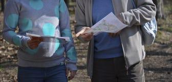 Sport het orienteering stock afbeelding