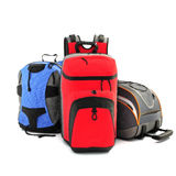 Sport hiking backpacks. On a white background Royalty Free Stock Image