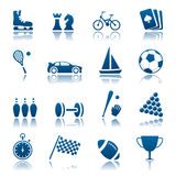 Sport & hobby icon set royalty free illustration
