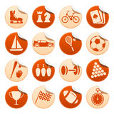 Sport & hobby stickers. Set of sport and hobby stickers vector illustration
