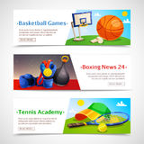 Sport Horizontal Banners Stock Images