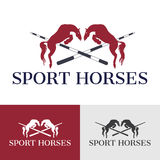 Sport Horses. Rearing up horse silhouette. Can be used for logo, emblem or heraldry design concept. Horse racing. Champion. Hippodrome. Jump racetrack Royalty Free Stock Photo