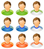 Sport human icons set. Varicoloured;  isolated vector illustration Royalty Free Stock Image