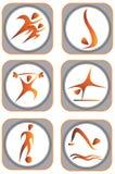 Sport icon Stock Photography