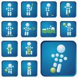 Sport icon. Set of vector sport icons Royalty Free Stock Image