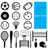 Sport icon. Black and white icon of sport Royalty Free Stock Image