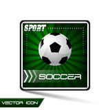 Sport  icon or button - soccer, socccer ball Royalty Free Stock Image