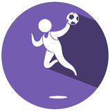 Sport icon design for soccer Stock Photography
