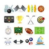 Sport icon set. Illustration of sport icon set Royalty Free Stock Images