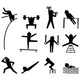 Sport icon set royalty free stock photography