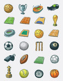 Sport icon set. Hand drawn  icon set Stock Images