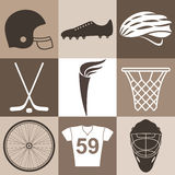 Sport. Icon Set Royalty Free Stock Images