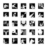 Sport icon set black-white Royalty Free Stock Photography