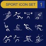 Sport icon set. Flat style Royalty Free Stock Image