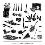 Sport icon set, Hand drawn vector illustration. Stock Photos