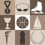 Sport. Icon Set Royalty Free Stock Photography