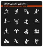 Sport icon set Stock Photos