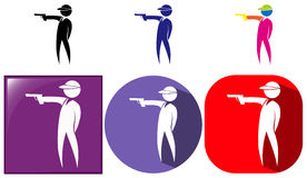 Sport icon for shooting gun. Illustration Stock Images