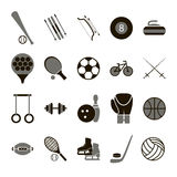 Sport Icon Signs and Symbols Black Set. Vector Stock Photography