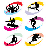 Sport icons. Set of silhouette icons of the sport and the Olympic Games royalty free illustration