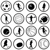 Sport Icons. Set of various sport icons Stock Photography