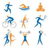 Sport icons. Set of sport, fitness icons. Vector illustration Royalty Free Stock Photo