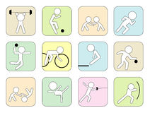 Sport icons. Vector set of sport icons Royalty Free Stock Image