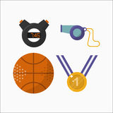 Sport icons activity leisure stopwatch timer vector illustration. Stock Photography