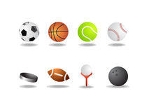 Sport Icons As Balls Isolated Stock Photos
