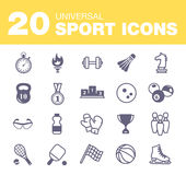 Sport icons. The best deal for your design Stock Images