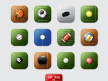 Sport Icons. Detailed Sport Icons, vector illustration for web Stock Photos