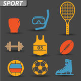 Sport icons. On gray background Stock Images