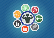 Sport icons , icon of good healthy life style. Sport icons , good healthy life style Royalty Free Stock Photography