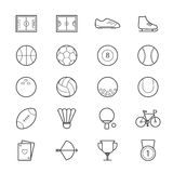Sport Icons Line Royalty Free Stock Image