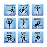 Sport icons Royalty Free Stock Images