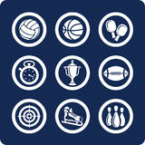 Sport icons (set 11, part 1). Sport 9 icons (set 11, part 1 Stock Photography