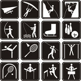 Sport icons set. Royalty Free Stock Photography