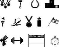 Sport icons. Set of black sport icons Stock Photo