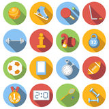 Sport icons set, colored flat Royalty Free Stock Photos