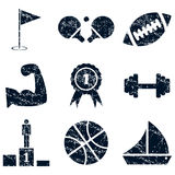 Sport icons set, grunge Royalty Free Stock Photography