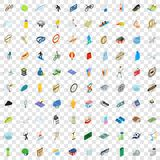 100 sport icons set, isometric 3d style Stock Photography