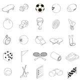 Sport icons set, isometric 3d style. Sport icons set in isometric 3d style on a white background Royalty Free Stock Photography