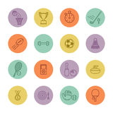 Sport icons. Set of minimalistic sport icons Stock Photography