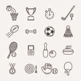 Sport icons. Set of monochrome sport icons Stock Images