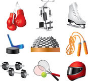 Sport icons  set. Sport shop icons detailed  set Royalty Free Stock Photography