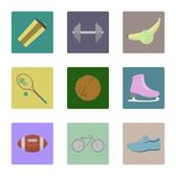 Sport icons. Set of icons on a theme of sport Stock Photos