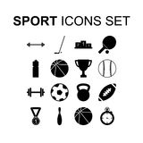 Sport icons set. Vector illustration. Sport icons set. Silhouette vector illustration Royalty Free Stock Photography