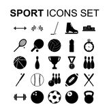 Sport icons set. Vector illustration. Sport icons set. Silhouette vector illustration Royalty Free Stock Photo